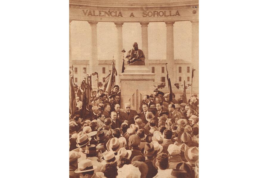 inauguración monumento a Sorolla. Museo del Silencio. Cementerio General de Valencia