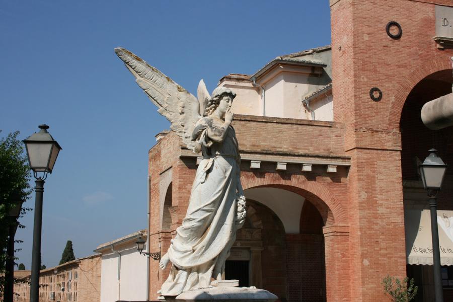 Perfil Angel del Silencio familia Burriel. Museo del Silencio. Cementerio General de Valencia