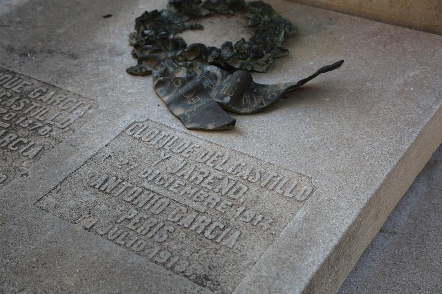 Vista losa de Antonio García Peris en el Museo del Silencio. Cementerio General de Valencia