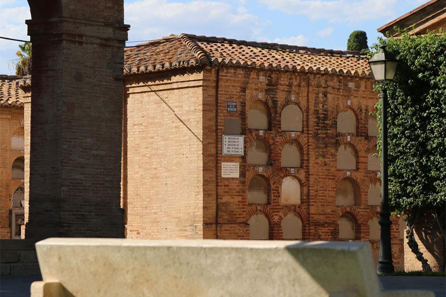 Vista general del nicho 1501. Museo del Silencio. Cementerio General de Valencia