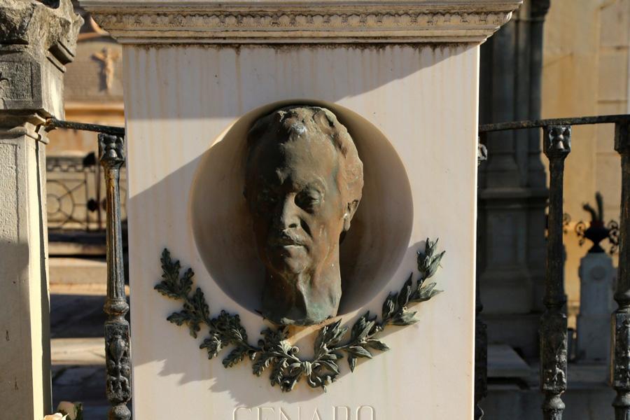 Efigie de Genaro Lahuerta, en el Museo del Silencio. Cementerio General de Valencia