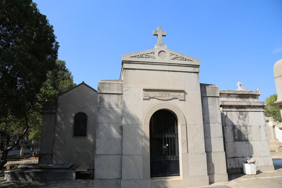 Vista panteón Juan Gil-Albert Simó, en el Museo del Silencio. Cementerio General de Valencia