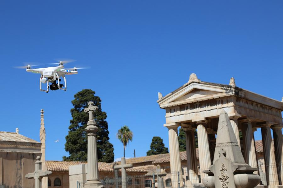 Drone en el Museo del Silencio, de JC media y el Cementerio General de Valencia