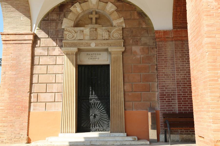 Puerta de entrada a la tumba del Marqués de Campo, en el Museo del Silencio, de JC media.