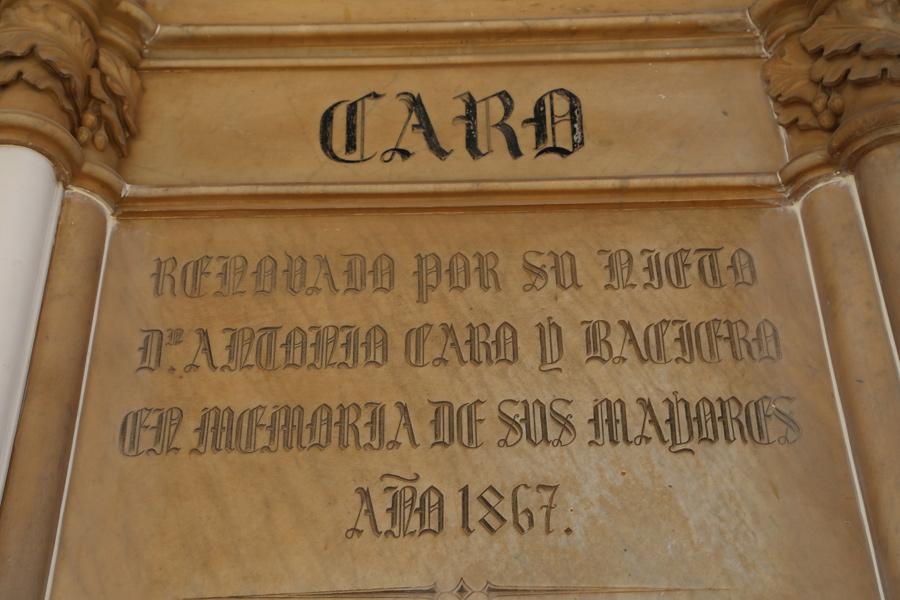 Inscripción Caro en Museo del Silencio, de JC media