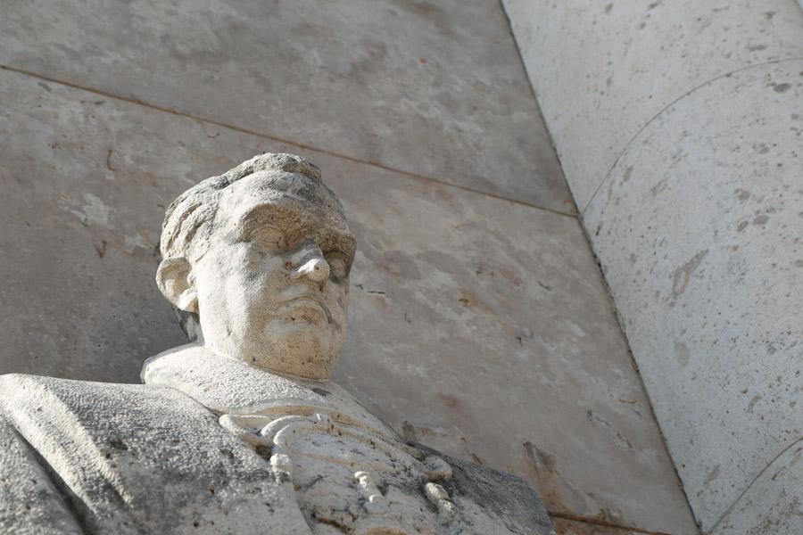 Efigie del Marqués de Sotelo, en el Museo del Silencio. Cementerio General de Valencia