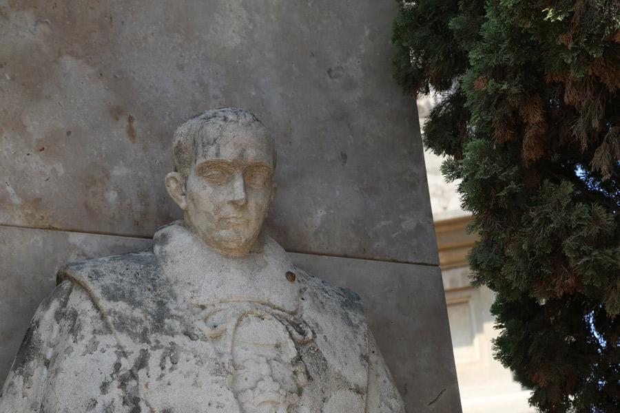 Recreación del Marqués de Sotelo, en el Museo del Silencio. Cementerio General de Valencia