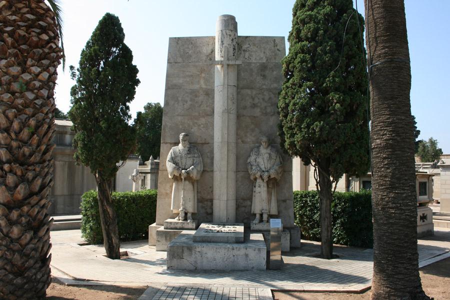 Panorámica del panteón del Marqués de Sotelo, en el Museo del Silencio. Cementerio General de Valencia
