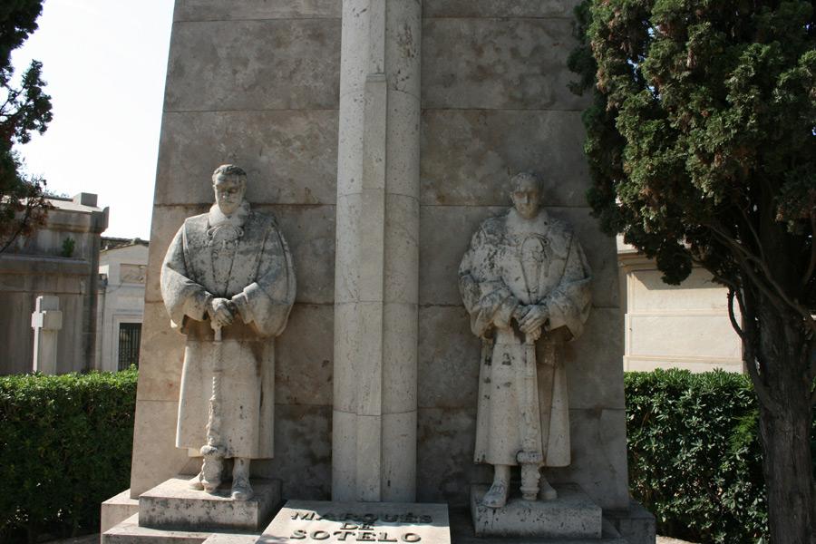 Panteón del Marqués de Sotelo, en el Museo del Silencio. Cementerio General de Valencia