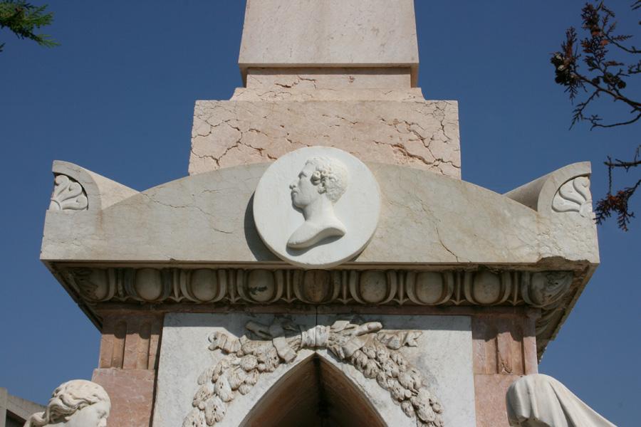 Detalle panteón Marqueses de San Juan. Museo del Silencio. Cementerio General de Valencia