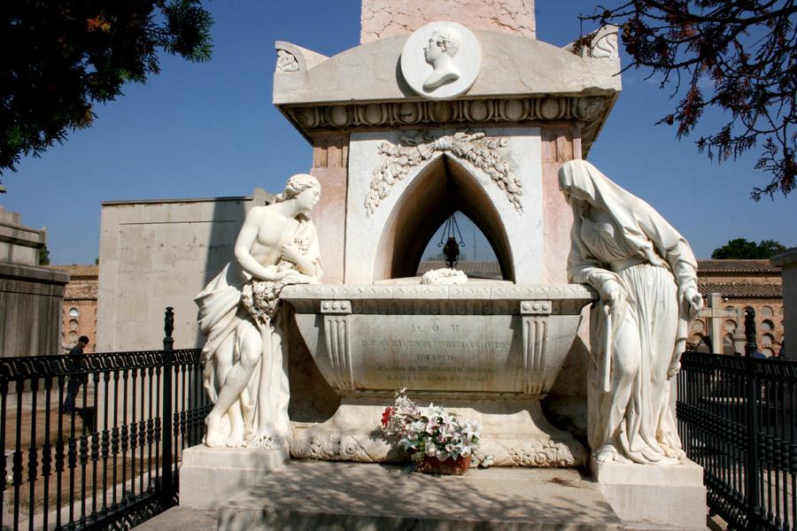 General de esculturas panteón Marqueses de San Juan. Museo del Silencio. Cementerio General de Valencia